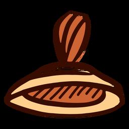 Instrumento musical indio manjira dibujado a mano