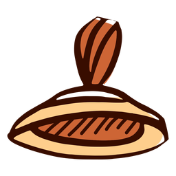 Mão de instrumento musical indiano manjira desenhada