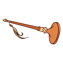 Indian musical instrument nadswaram hand drawn