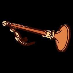 Instrumento musical indio nadswaram dibujado a mano