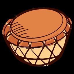 Instrumento musical indiano nagara desenhado à mão