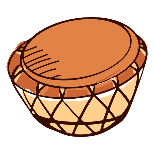 Indian musical instrument nagara hand drawn
