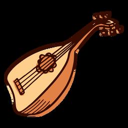 Instrumento musical indio pipa dibujado a mano