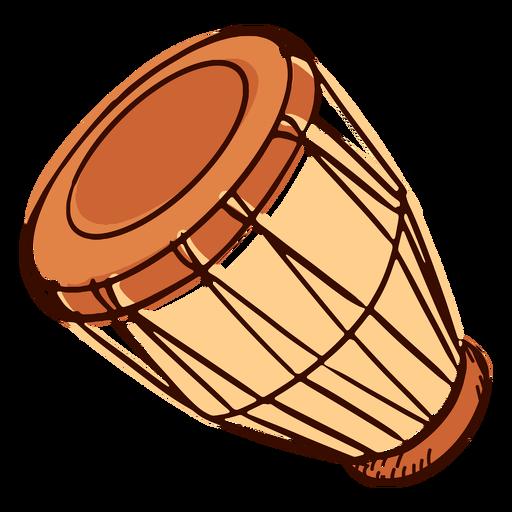 Instrumento musical indio pongo inclinado dibujado a mano Transparent PNG