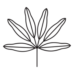 Leaf geometric cone thin six stroke