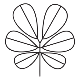 Leaf geometric ellptical thick six stroke