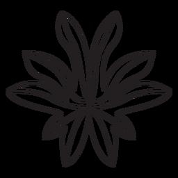 Curso de figo geométrico de folha