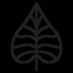 Trazo geométrico de hoja en forma de corazón