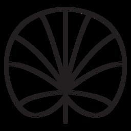 Curso de lótus geométrica de folha