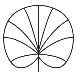 Trazo de loto geométrico de hoja