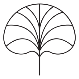 Leaf geometric lotus leaf stroke