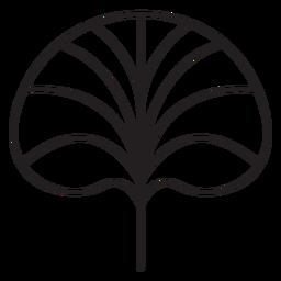 Trazo de hoja de loto geométrico de hoja