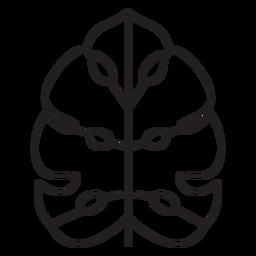 Hoja geométrica trazo de palma