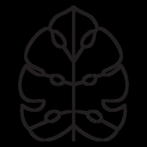Leaf geometric palm stroke Transparent PNG