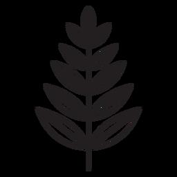 Leaf geometric rowan stroke
