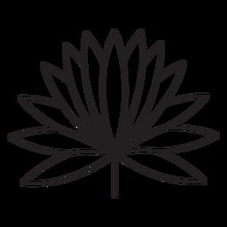 Traço múltiplo fino geométrico de folhas