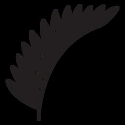 Hoja geométrica delgada trazo lateral múltiple