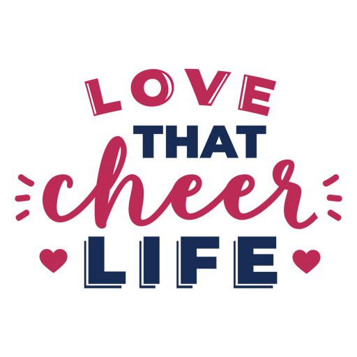 Love cheer best lettering Transparent PNG