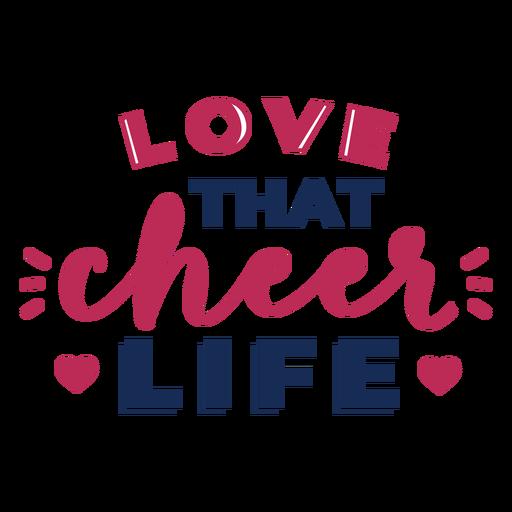 Love cheer best lettering