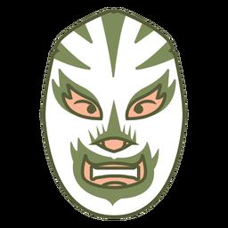 Mask green front facing flat