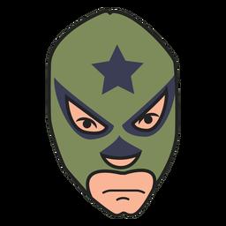 Mask green front facing star flat