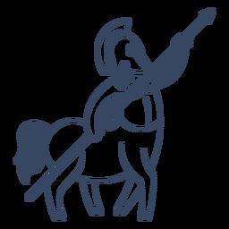 Monstruo centauro trazo griego