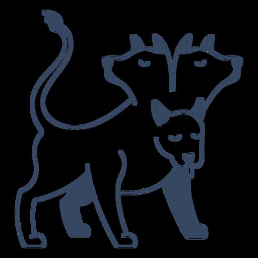 Monstruo cerberus trazo griego Transparent PNG