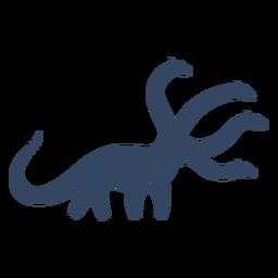 Monstruo dinosaurio de cuatro cabezas