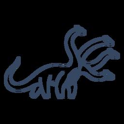 Curso de dinossauro de quatro cabeças de monstro