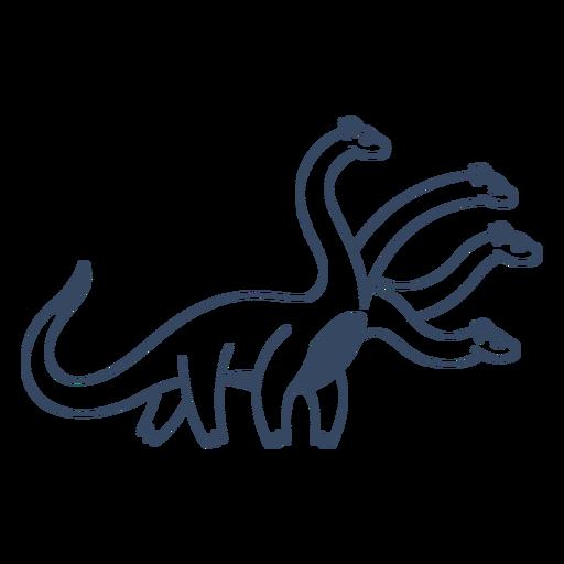 Golpe de dinosaurio de cuatro cabezas de monstruo Transparent PNG