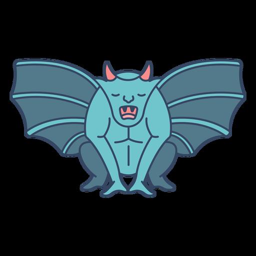 Monstruo gárgola plana Transparent PNG