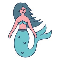 Monster mermaid flat