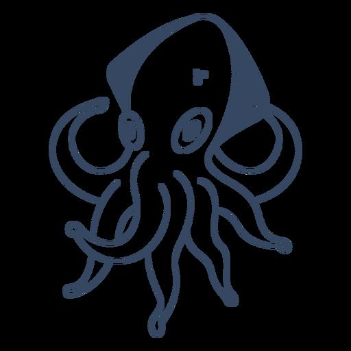 Monster octopus stroke Transparent PNG