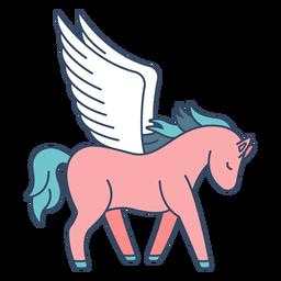 Monster Pegasus Griechisch flach