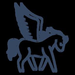 Monster Pegasus griechischen Schlaganfall