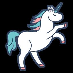 Monstruo unicornio griego plano