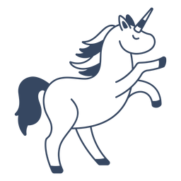Monster unicorn greek stroke