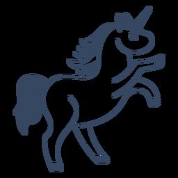 Monstruo unicornio trazo griego