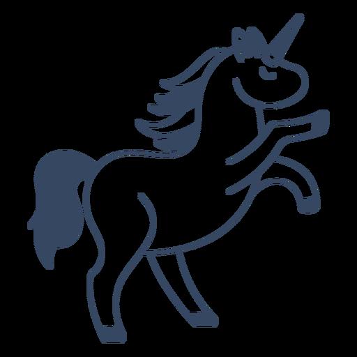 Monstruo unicornio trazo griego Transparent PNG