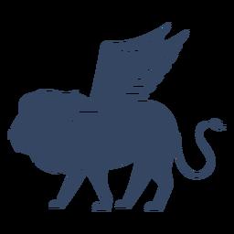 León alado monstruo