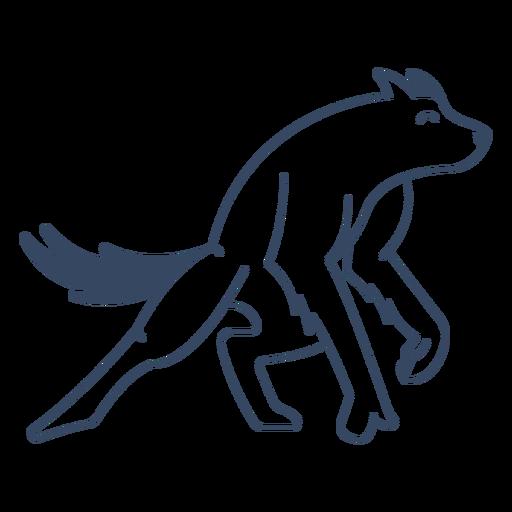 Lobo monstro como acidente vascular cerebral Transparent PNG