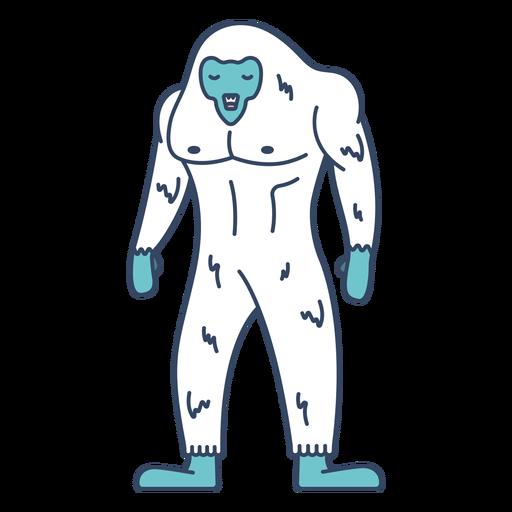 Monstruo yeti plano Transparent PNG