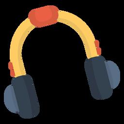 Auriculares de música plana