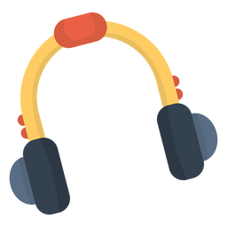 Music headphone flat