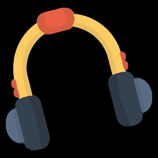 Music headphone flat Transparent PNG