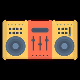 Musik Stereo Deck flach