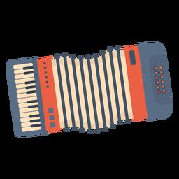 Acordeón de música plana