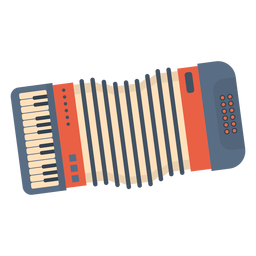 Music accordian flat