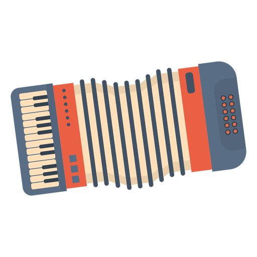 Music accordian flat Transparent PNG