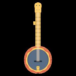 Music banjo flat